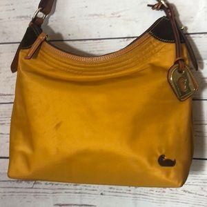 Dooney & Bourke Mustard Yellow Canvas Satchel Bag